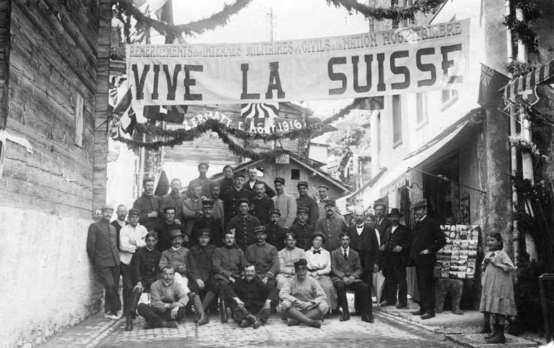 Centenaire: les internés au Pays d'EnHaut et en Suisse